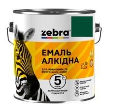 """Эмаль """"Зебра"""" ПФ-116  темно-зеленая 2.8 кг"""