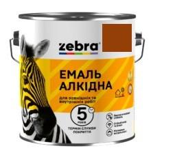 """Эмаль """"Зебра"""" ПФ-116 жел-корич 2.8 кг"""