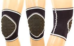 Наколенник защитный для экстремальных видов спорта (1 шт.), (нейлон, р-р регул, серый)