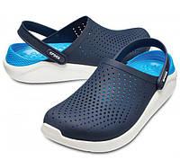 Кроксы мужские Crocs LiteRide оригинал. Сабо синие/белые