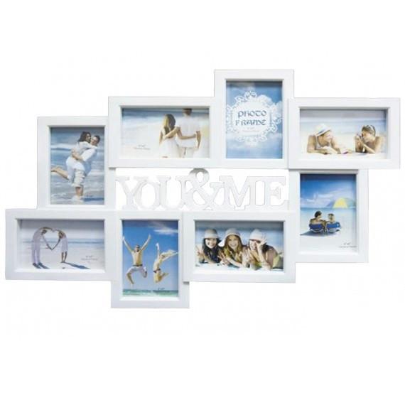 Фоторамка-коллаж на 8 фото, You&Me, пластик, белый