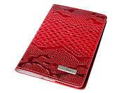 Обложка для паспорта женская кожаная темно-красная Karya 093-019