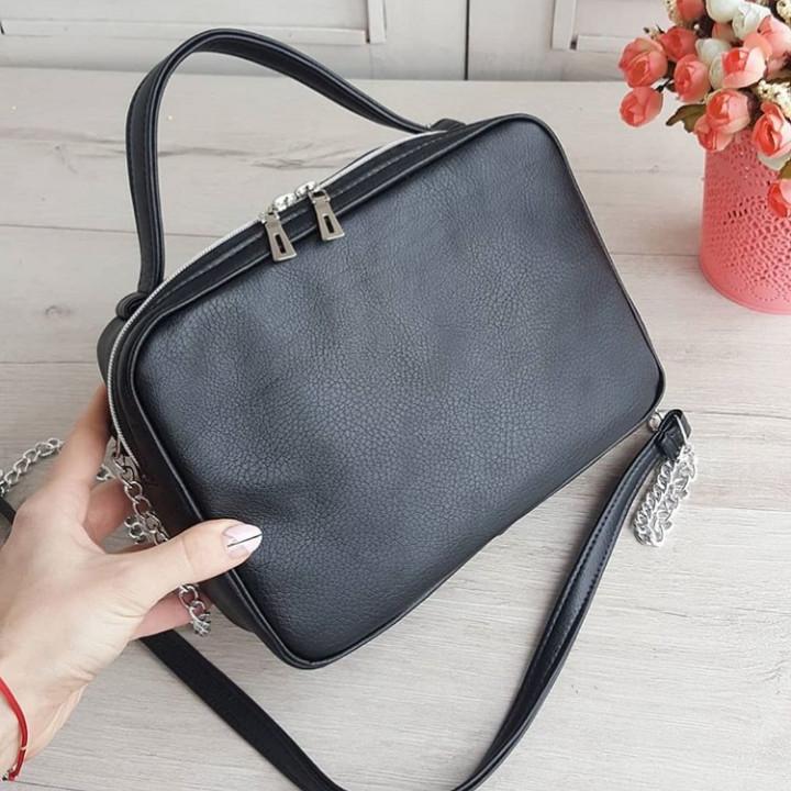 Стильная женская сумка черная