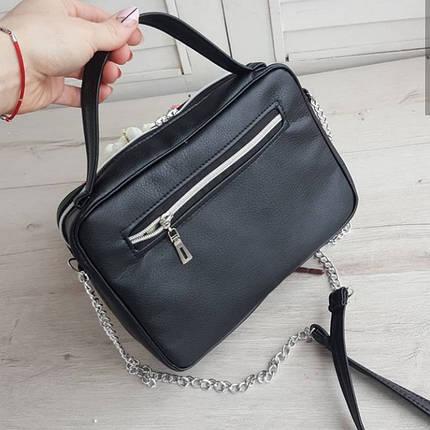 Стильная женская сумка черная, фото 2