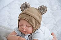 """Шапочка для новорожденного """"Мишка"""" коричневая"""