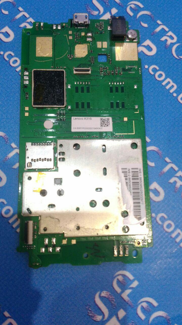 Плата основная ( не рабочая )  Lenovo a316 Original б.у