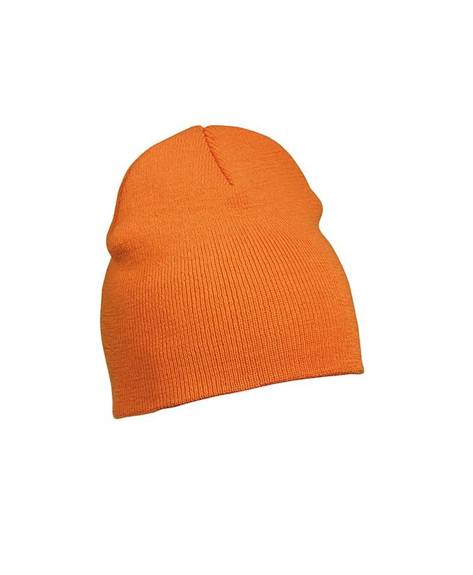 Шапка вязаная, оранжевая