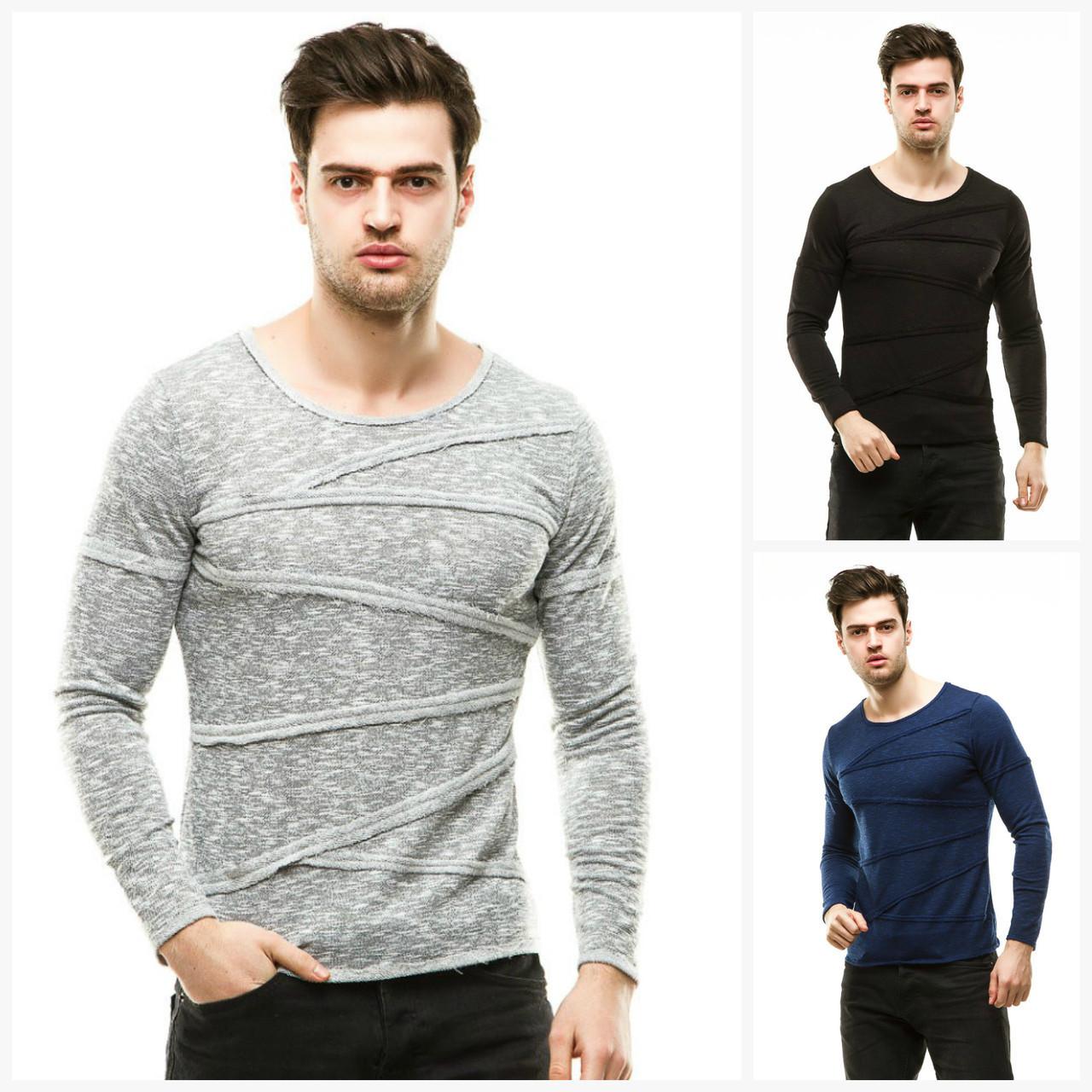 Мужской стильный свитер реглан