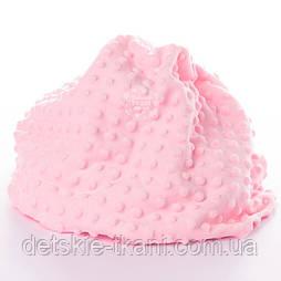 Плюш minky светло розового цвета.