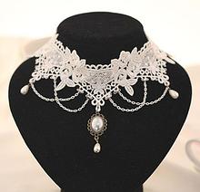 Чокер ожерелье белый кружево