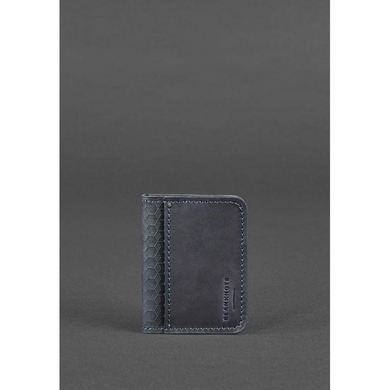 Мужская кожаная обложка для водительских прав 4.0 Карбон синяя