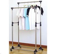 Double Pole WJF 001, Вешалка стойка для одежды, Двойная стойка для одежды, Напольная телескопическая стойка