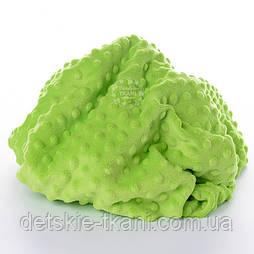 Плюш minky светло-зелёного цвета