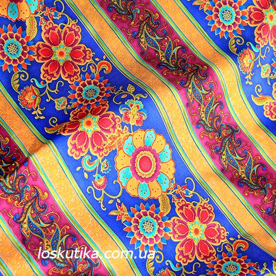 29006 Сказочный орнамент. Красочные ткани с орнаментом. Подойдет для изделий ручной работы и пэчворка.