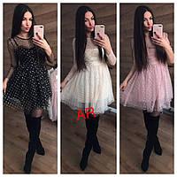 Женское красивое платье 2-ка в расцветках. АР-20-0219