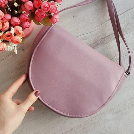 Женская сумочка через плечо розовая, фото 2