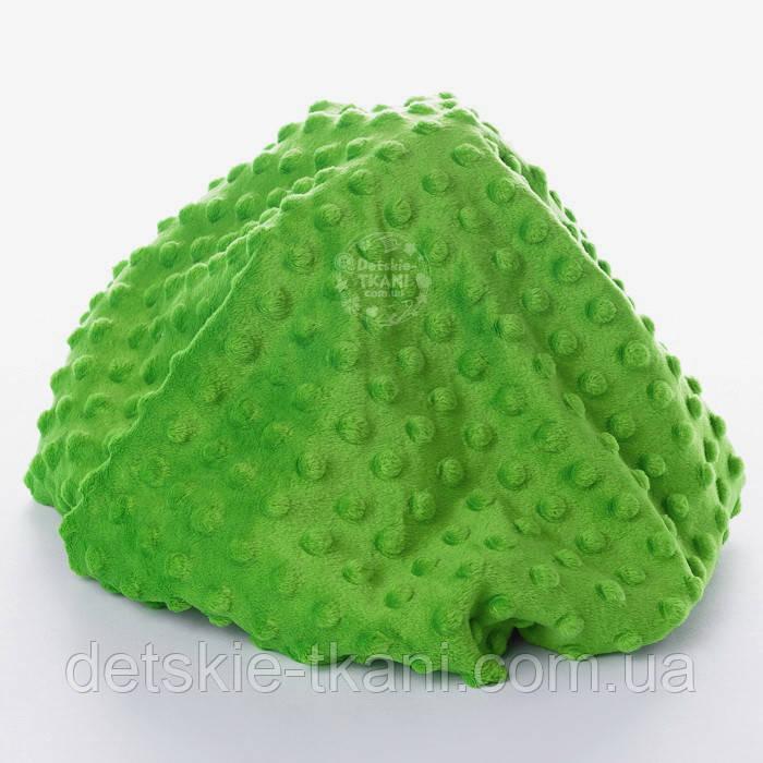 Плюш minky темно-зеленого кольору.