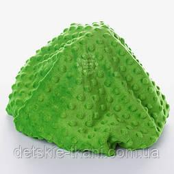 Плюш minky тёмно-зелёного цвета.