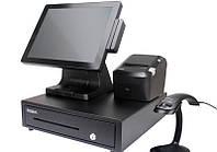 POS терминал для кассовых расчётов для магазина, комплект автоматизации, касса, программа