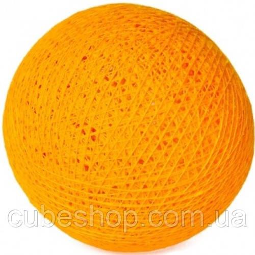 Декоративные хлопковые шарики из ниток Sunny yellow