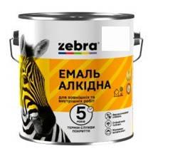 """Эмаль алкидная """"Зебра"""" ПФ-116 белая матовая 2.8 кг"""