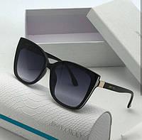 Солнцезащитные женские очки реплика Jimmy Choo 2019 черные 689f7a64dcec7