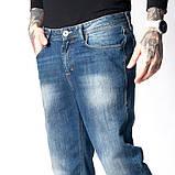 Мужские джинсы классические Franco Benussi 1058 синие, фото 2