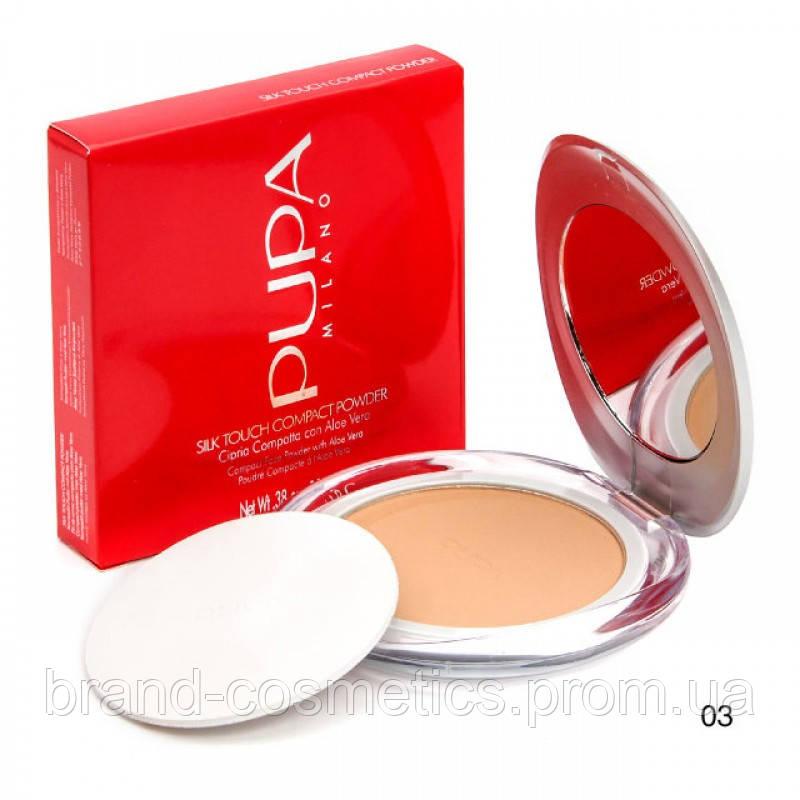 Пудра Pupa Silk Touch Compact Powder (тон №3)