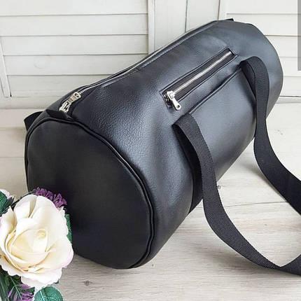 Женская спортивная сумка черная, фото 2