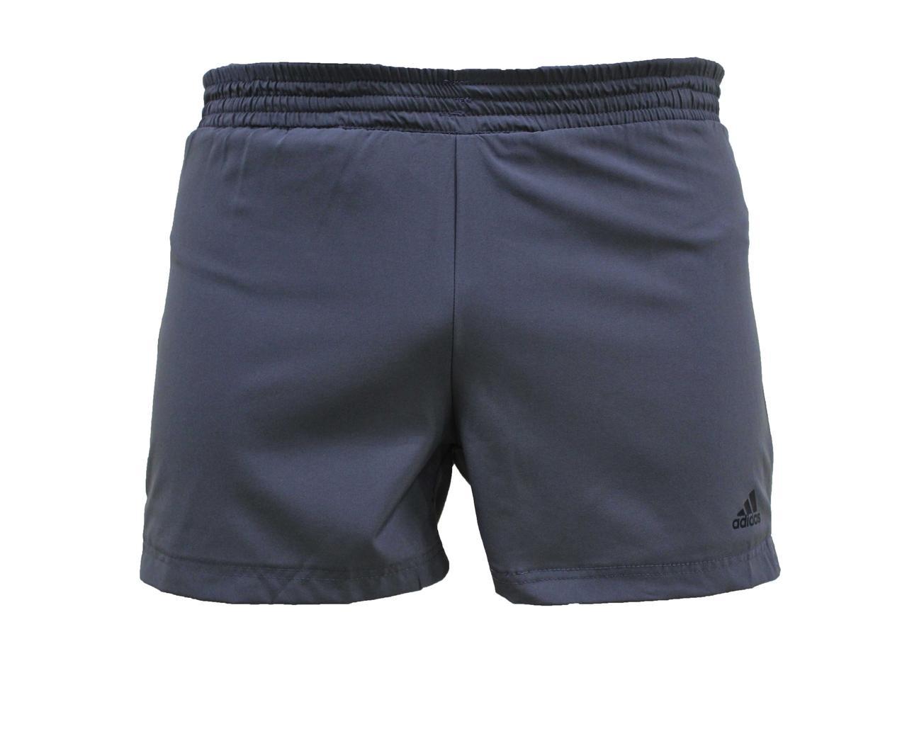 Мужские серые короткие шорты Adidas плавательные 42, 44, 46  размер  (Реплика)