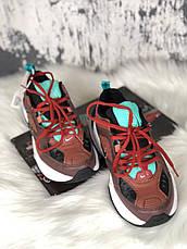 Женские кроссовки в стиле Nike M2K Tekno Dark Brown Turquoise, фото 2