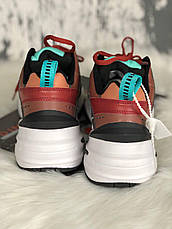 Женские кроссовки в стиле Nike M2K Tekno Dark Brown Turquoise, фото 3