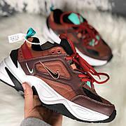 Женские кроссовки в стиле Nike M2K Tekno Dark Brown Turquoise