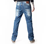 Мужские джинсы классические Franco Benussi 1058 синие, фото 4