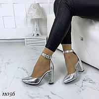 Туфли женские кожаные на удобном каблуке