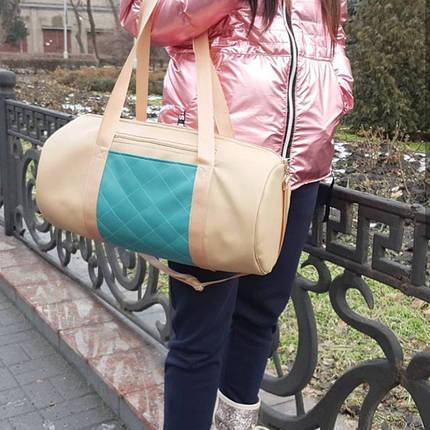 Женская спортивная сумка бежевая, фото 2