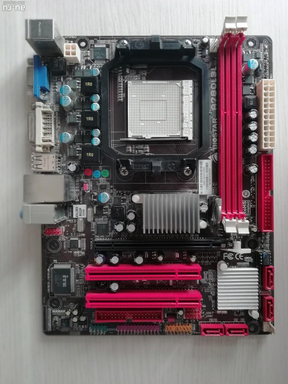 Материнская плата Biostar A780L3L ( AM3/AMD 760G/2xDDR3) бу