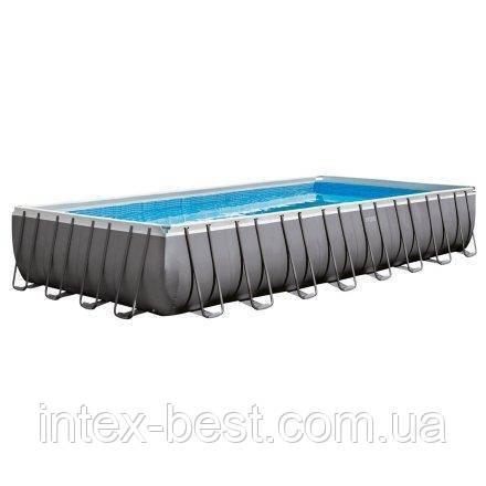 Каркасный бассейн Intex 26374, 975 х 488 х 132 см (10 000 л/ч, лестница, тент, подстилка)