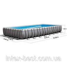 Каркасный бассейн Intex 26374, 975 х 488 х 132 см (10 000 л/ч, лестница, тент, подстилка) , фото 2