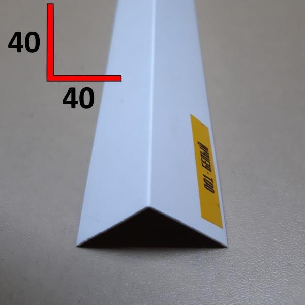 Уголок декоративный двухсторонний из ПВХ 40х40, 2,7 м Белый
