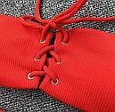 Купальник бандо с шнуровкой (красный), фото 3