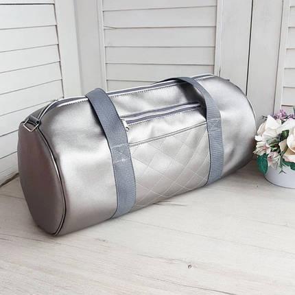 Женская серебряная  спортивная сумка, фото 2
