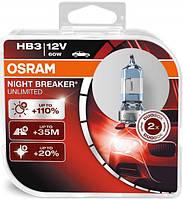 "Автомобильные галогенные лампы ""OSRAM"" (HB3)(12V)(60W)(Night Breaker Unlimited)(+110%), фото 1"