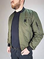 Куртка демисезонная пилот олива, фото 1