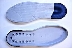 Подошва для обуви СМ136 серо-синяя р.40-45, фото 2