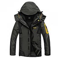 Куртка зимняя с подстежкой Jack Wolfskin оригинал темно серая