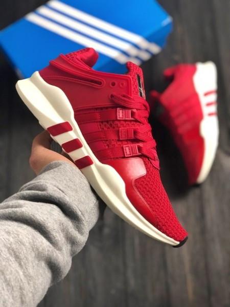 Мужские кроссовки в стиле Adidas Equipment SUPPORT ADV (red/white), (Реплика ААА)