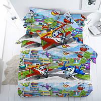 Самолеты, подростковое постельное белье (бязь премиум, 100% хлопок), фото 1