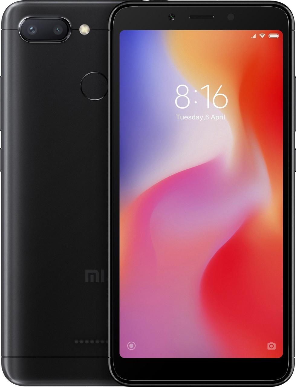 Xiaomi Redmi 6 4/64Gb Dual Black Global Rom