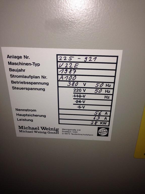 Чотиристоронній верстат Weinig Unimat 22 9